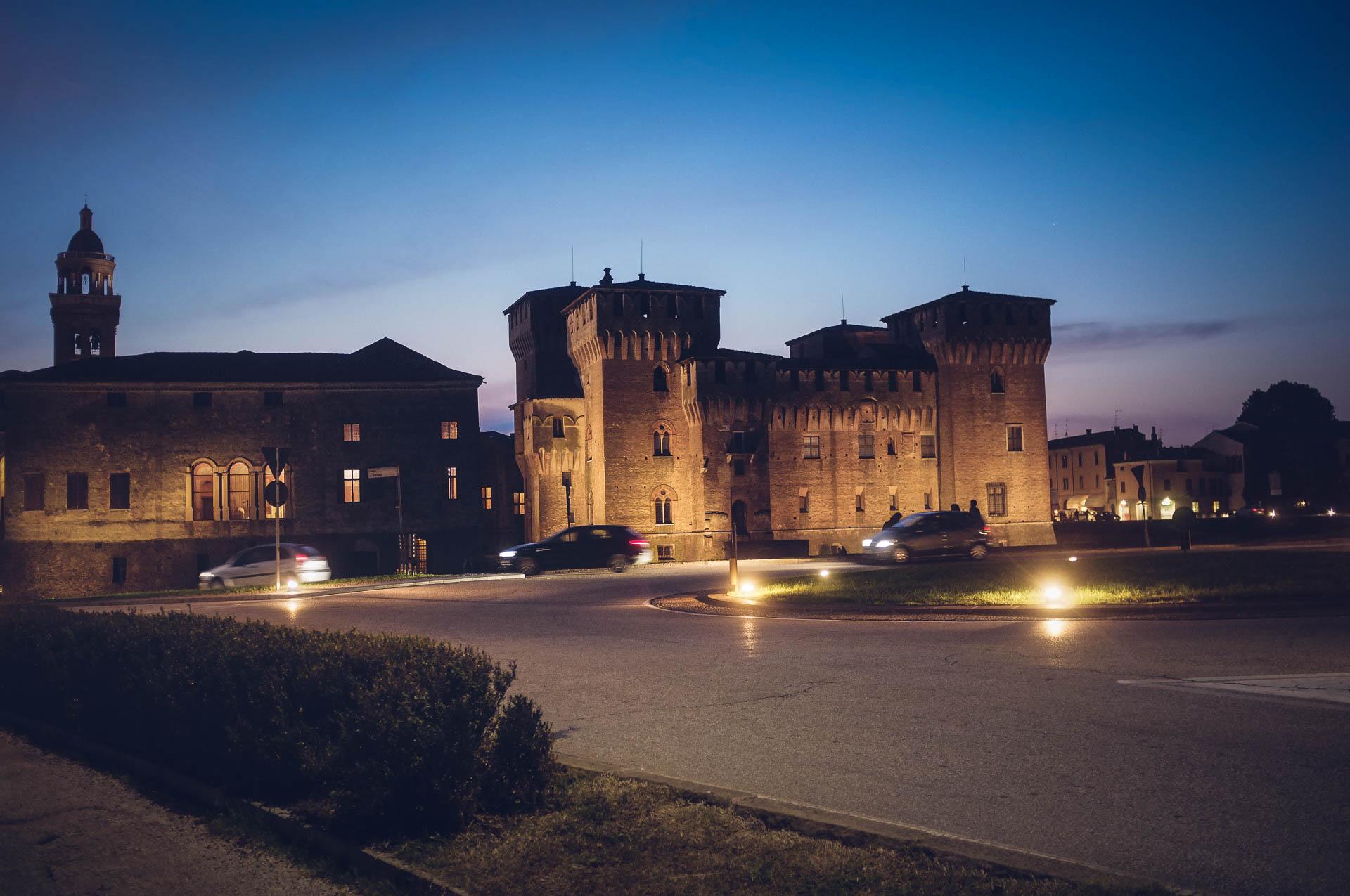mantova - castello di San Giorgio di sera